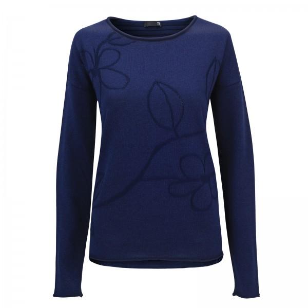 Rabe Langarm-Pullover mit Naturmuster
