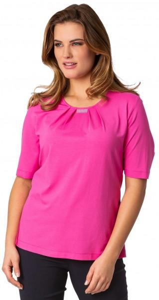 Rabe, leichtes Blusen-Shirt mit Falten am Ausschnitt
