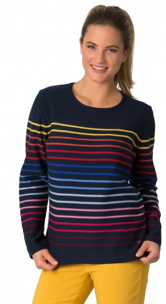 Rabe, sportlicher Pullover mit Multicolour Streifen