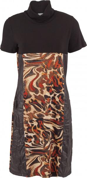 Kleid mit Rolli und Animalprint
