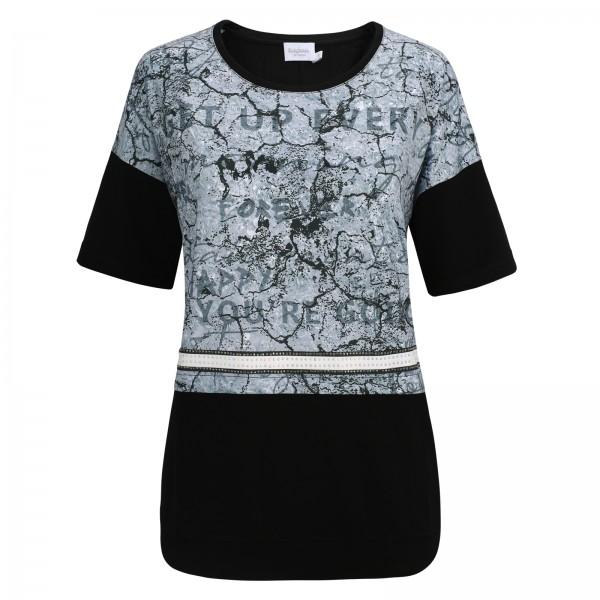 Estefania for woman, Shirt mit Rundhals-Ausschnitt und abstraktem Druck