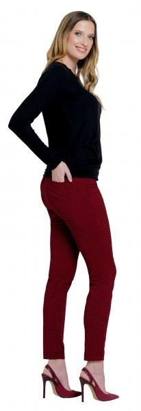 Stehmann, Rotello10-760, schmale Karo-Stretch-Hose mit Gesaesstaschen