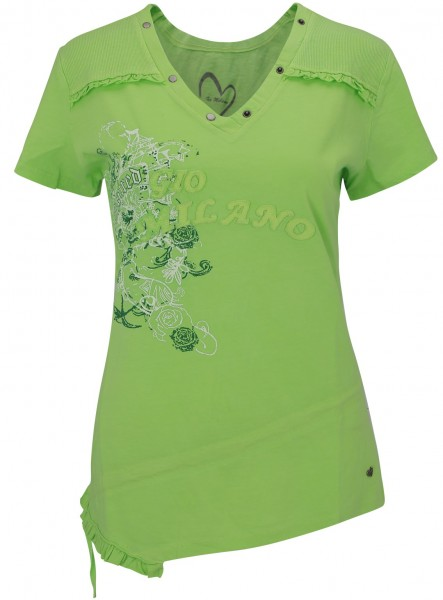 Gio Milano, Shirt mit Wash-Out-Effect