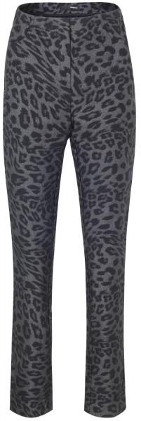 Stehmann, Loli-762, schmale stretchige Hose im Leoparden Druck