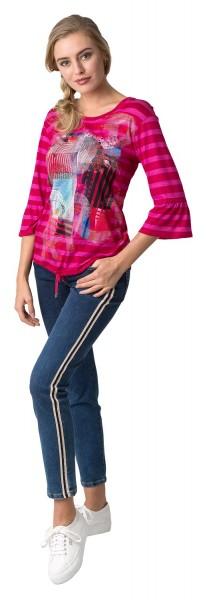 Stehmann Peggy25-742W-48413, Jeanshose mit sportlichen Seitenstreifen