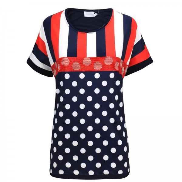 Estefania for woman, Shirt mit Streifen- und Punkte Optik