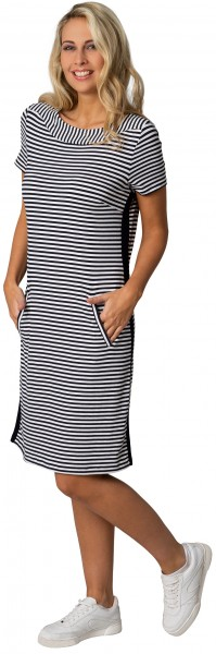 Gio Milano, maritimes Kleid mit Taschen