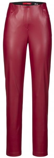 Stehmann, Loli3-740, schmale Schlupfhose aus veganem Leder mit vorderen Taschen