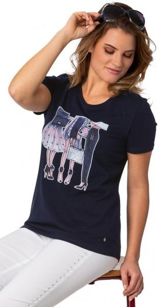 Gio Milano, sportlich elegantes Shirt mit Motiv