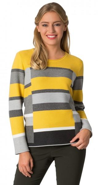 Rabe, Pullover mit Muster und Rollkante am Saum