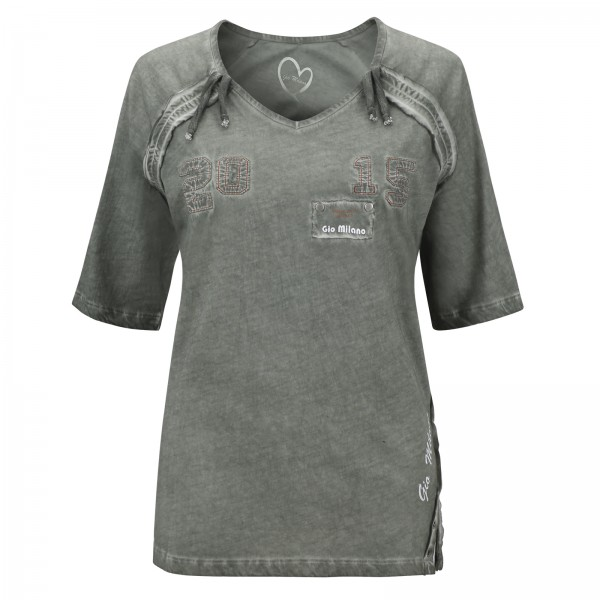 Gio Milano Shirt mit Patches