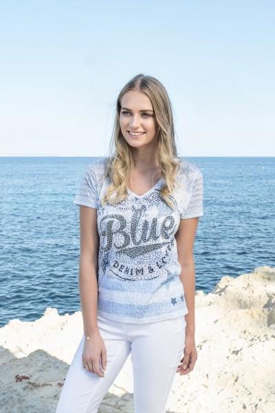Gio Milano, Shirt in Ausbrenner-Optik