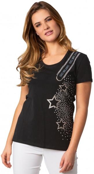 Gio Milano Shirt, seitlich Sterne und Ripsband