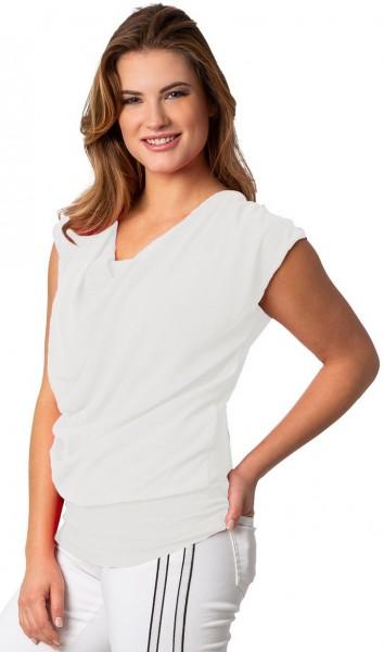 Estefania for woman, leichtes Sommershirt mit Wasserfallausschnitt