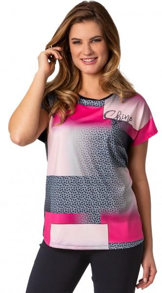Estefania for woman, elegantes Shirt im Materialmix