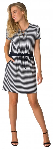 Estefania for woman, maritimes Kleid mit Kordel