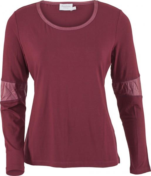 Shirt Langarm mit Lederimitat Einsätzen