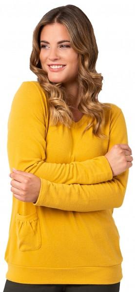 Estefania for woman, super kuscheliger V-Ausschnitt Pullover mit Tasche