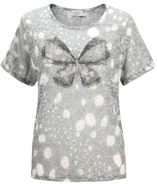 Estefania for woman, Shirt mit Strass-Schmetterling