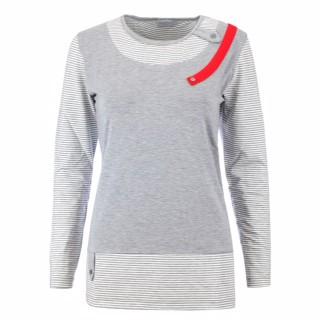 Estefania for woman ,Langarm-Shirt mit roter Lasche