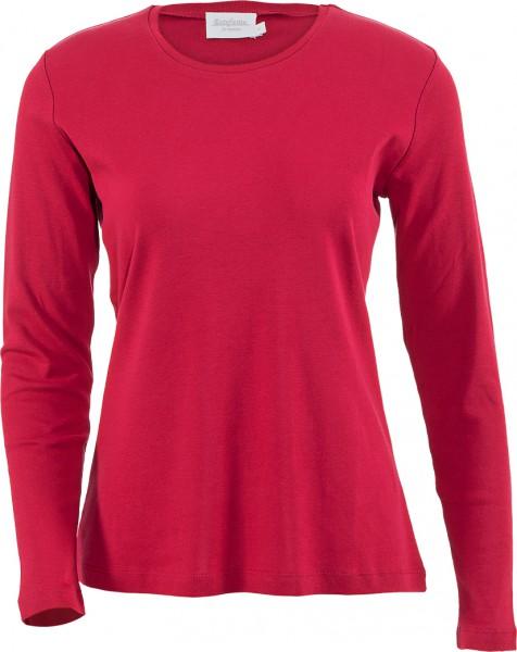 Estefania for woman, Rundhals-Shirt Langarm 100% Baumwolle