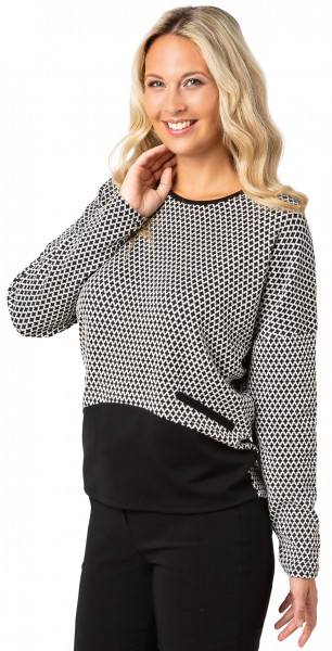 Estefania for woman, Oversize Langarm-Shirt mit Jacquards