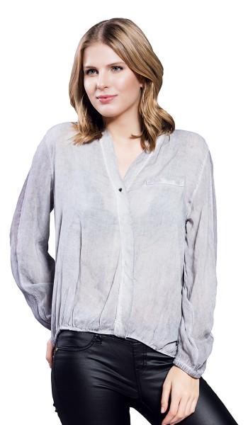 Gio Milano, trendiges Blusenshirt in Waschoptik