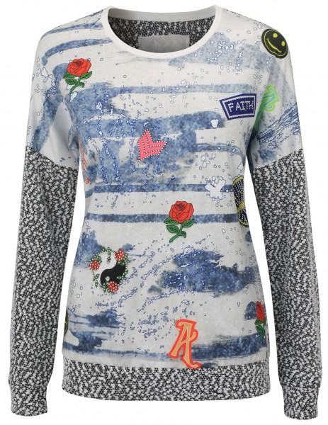 Gio Milano, Boucle Druck-Pullover