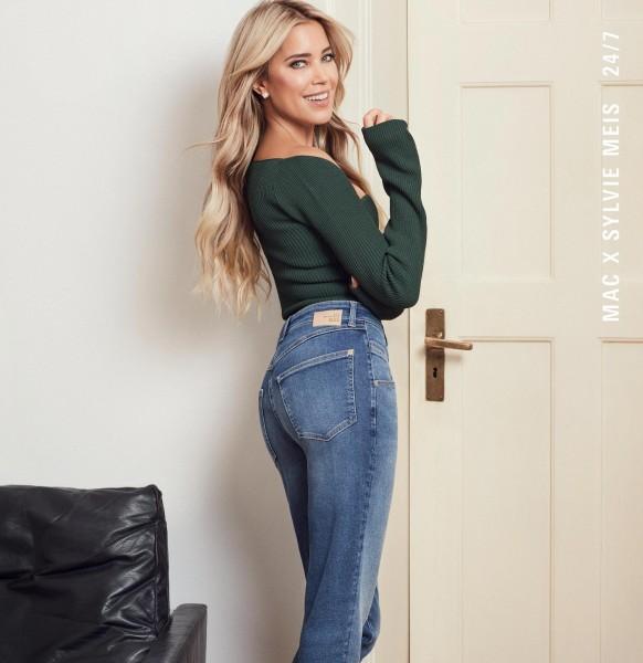 MAC Jeans Mel Femininer Fit mit hoher Leibhöhe, schmaler Taille und schmalem Beinverlauf