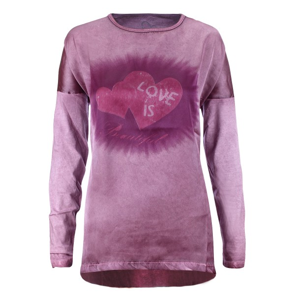 Gio Milano,trendiges Langarm-Shirt - Love is