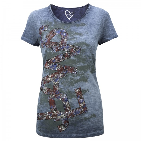 Gio Milano, Shirt mit Jeans Print
