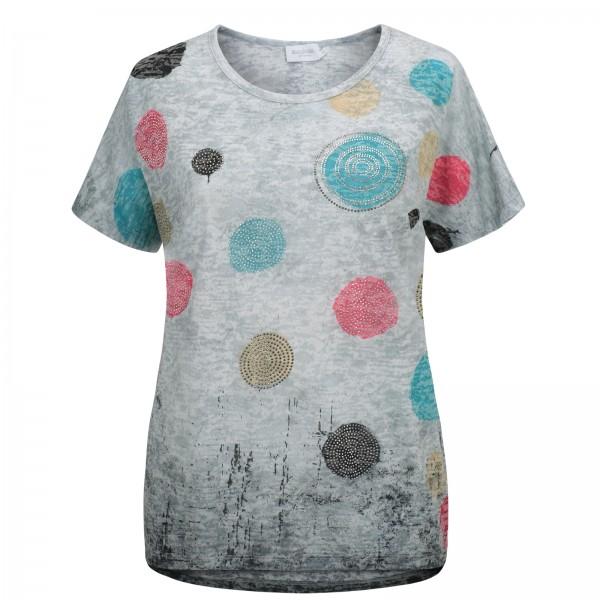 Estefania for woman, Shirt mit farbigen Punkten und Strass
