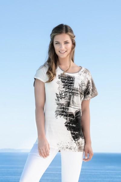 Estefania for woman, Druckshirt mit ueberschnittener Schulter