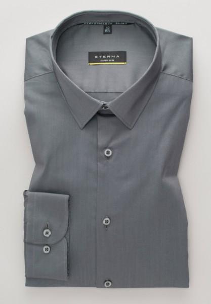 Eterna langarm Hemd Modern Fit, Performance Shirt Stretch, unifarben