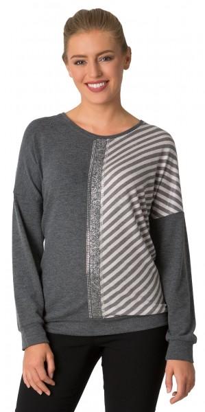 Estefania for woman, softig weicher Pullover mit Lurex Streifen