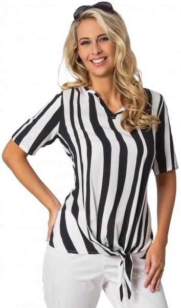 Estefania for woman, Streifen Blusenshirt seitlich zu binden