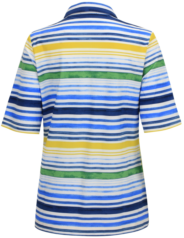 Polo in sommerlicher Streifen-Optik Gr/ö/ße 40 Rabe