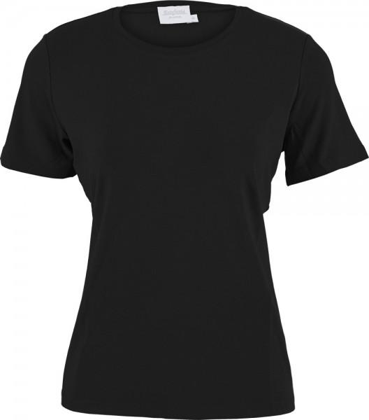 Basic-Shirt 100 % Baumwolle, Rundhals, Kurzarm