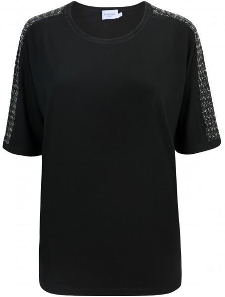 Estefania for woman, Shirt mit überschnittenem Arm und Strassapplikationen