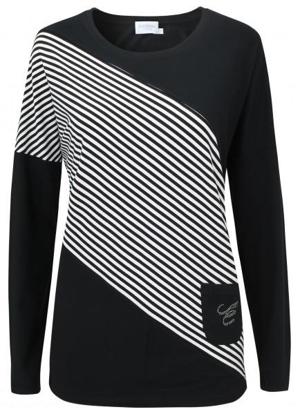 Estefania for woman, Shirt mit Streifen und Tasche
