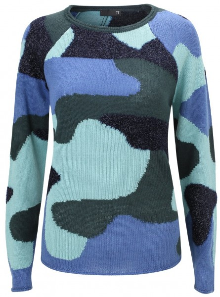 Thomas Rabe Strickpullover in Camouflage Optik