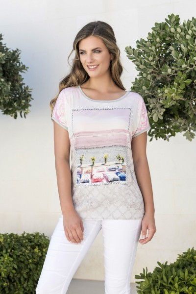 Estefania for woman, Shirt mit sommerlichen Druck