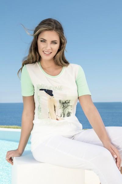 Estefania for woman, Rundhalsshirt mit Print