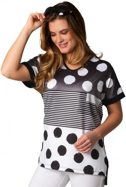 Estefania for woman, leichtes Sommershirt mit V-Ausschnitt