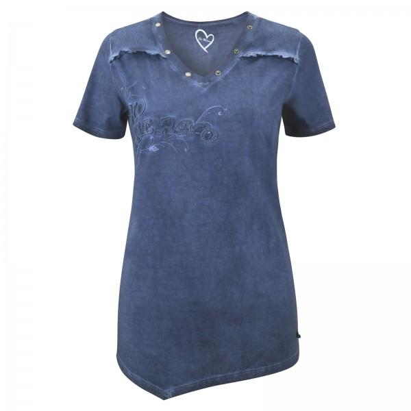 Gio Milano Shirt mit aufgesticktem Logo