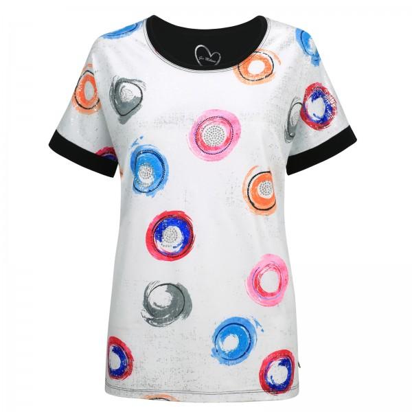 Gio Milano, Shirt mit Strassversetzten Puenktchen