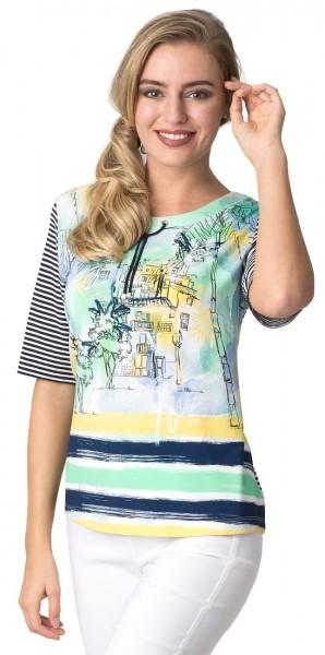 Rabe Shirt mit U-Boot Ausschnitt