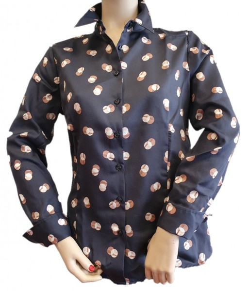 Eterna, Damen Langarm Hemd-Bluse mit modischem Druck