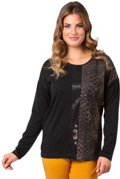 Estefania for woman, edles Langarm-Shirt mit aufwendigen Details