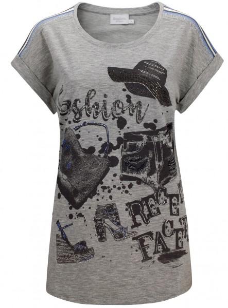 Estefania for woman, Shirt mit aufgesetzten Zierband